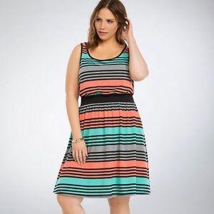 Torrid Mulitcolor Dress w/ Pockets Size 0 EUC